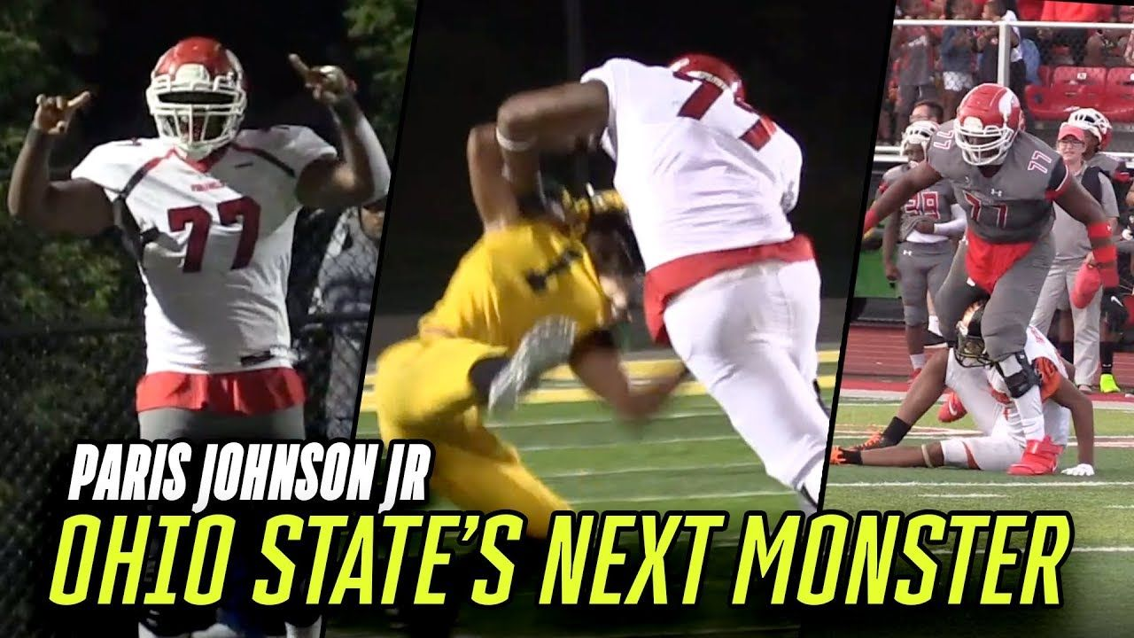 "6'7"" 300 Pound BULLDOZER Is Ohio State's Next STAR! Paris Johnson Jr. Pancakes ALL Senior Year 🥞"