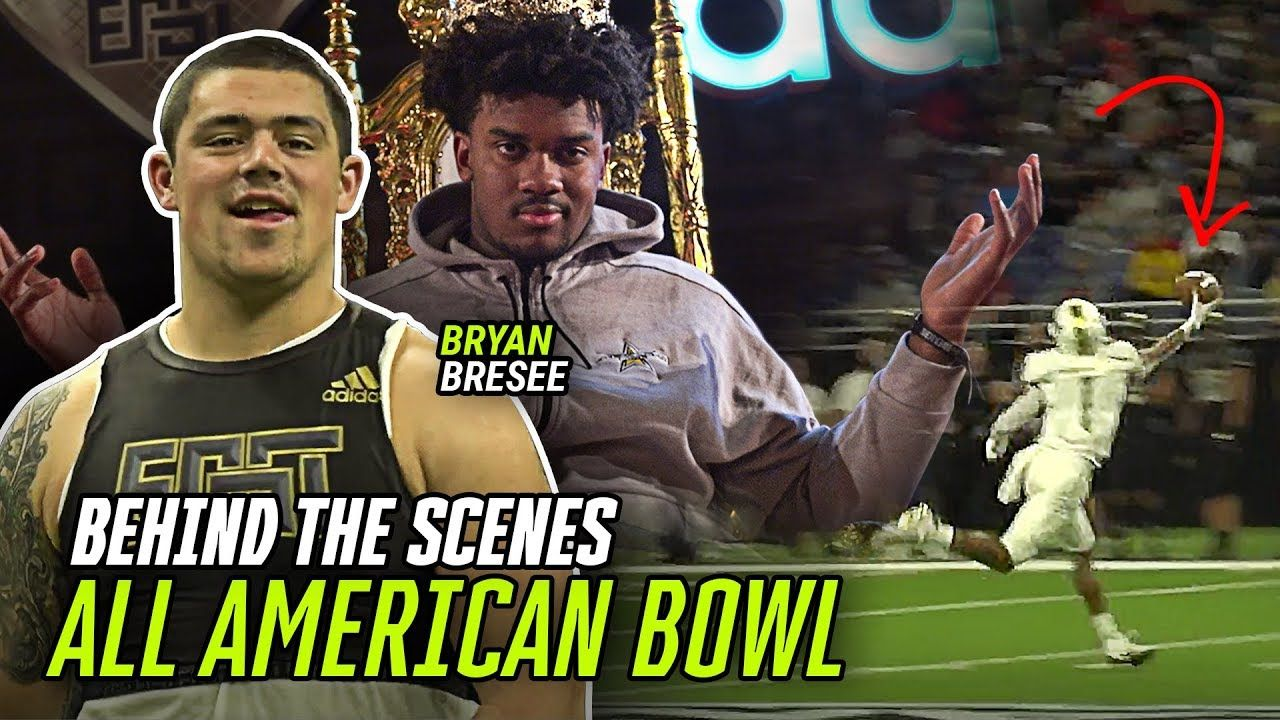 Clemson's Bryan Bresee & Future College Stars Take Us BEHIND THE SCENES At The All American Bowl 😱