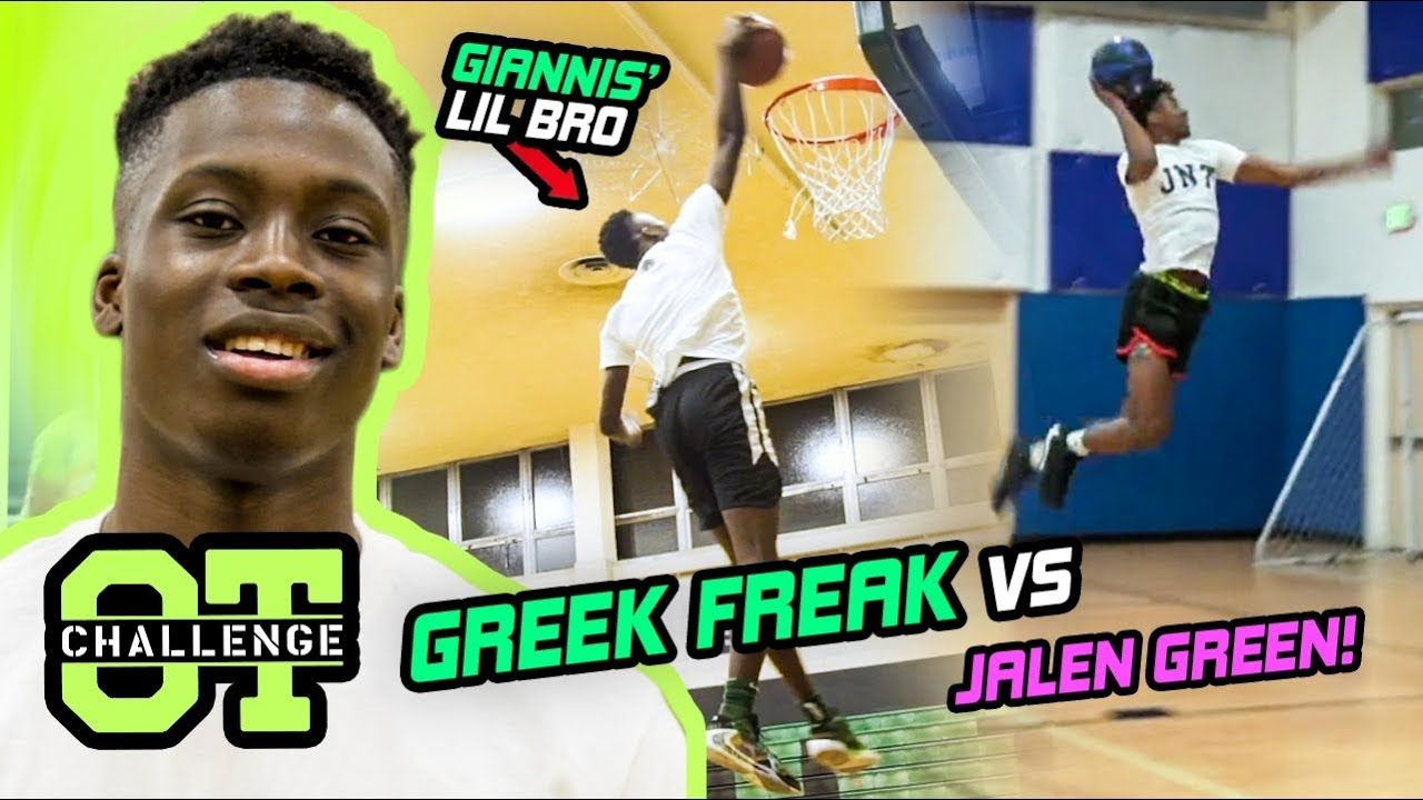 Alex Antetokounmpo Goes FULL FREAK In The Overtime Challenge! Giannis' Lil Bro Calls Out JALEN GREEN