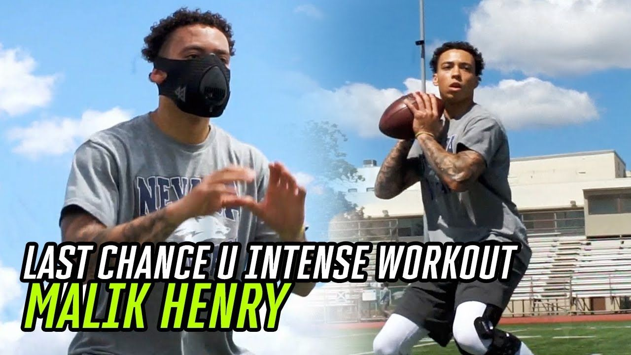 Last Chance U Star Malik Henry Is BACK On His Grind! Nevada QB's INTENSE Workout 😤