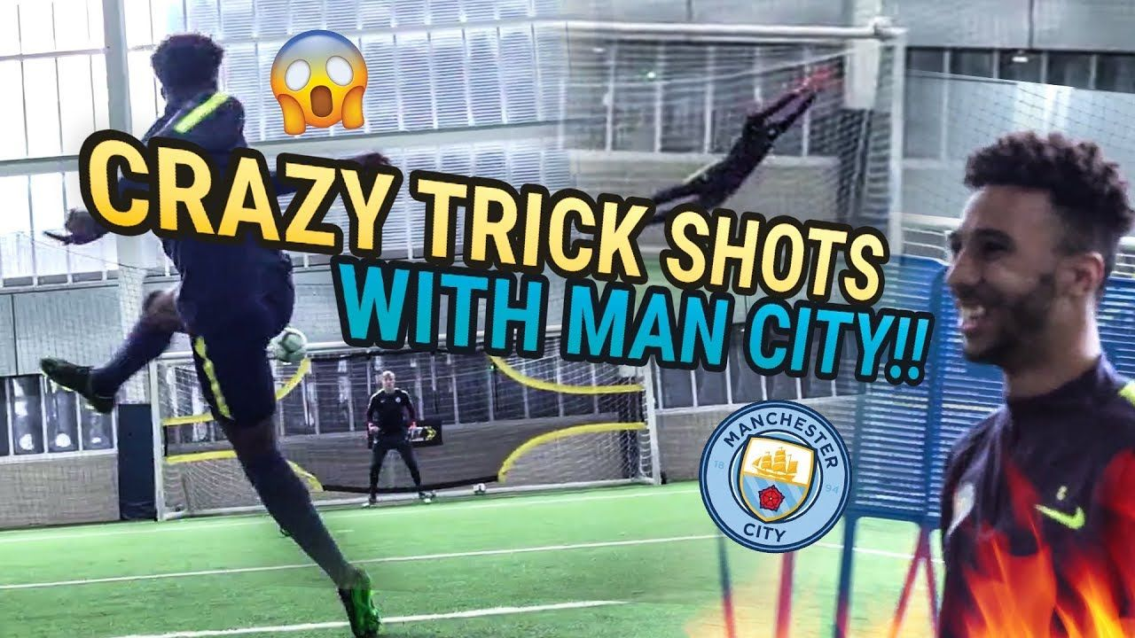 Man City Academy Players BREAK OUR CAMERA With Crazy Trick Shots! They Kicked My A** 😲