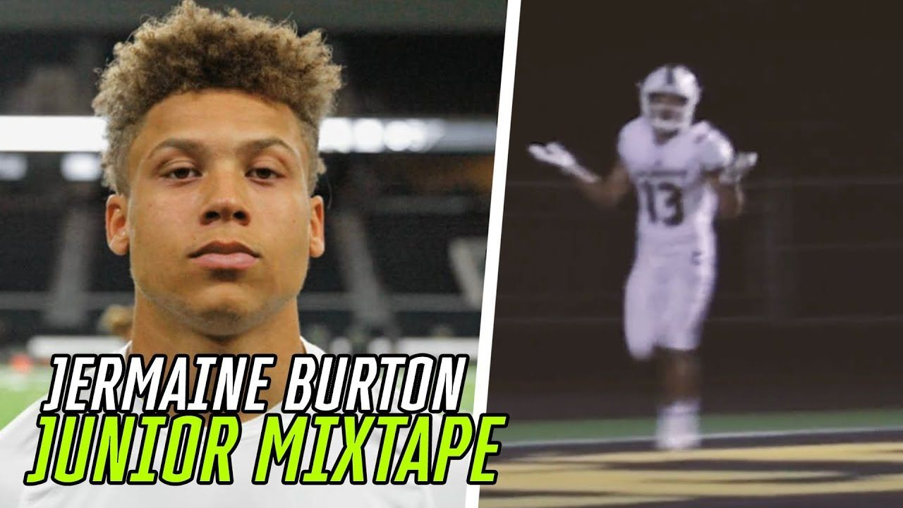 The BIGGEST SAVAGE In High School Football! Jermaine Burton Jr TOOK NAMES All Season 🔥