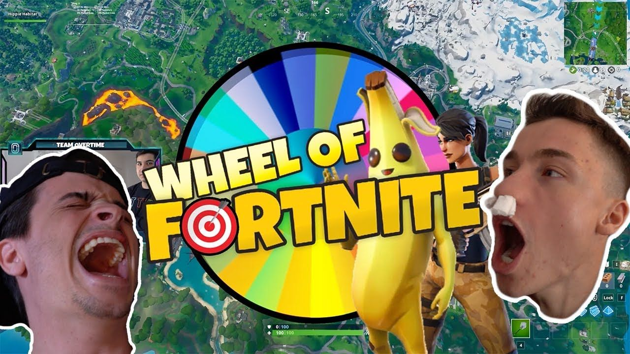 WE SPUN THE WHEEL OF FORTNITE (hair waxed if you lose)
