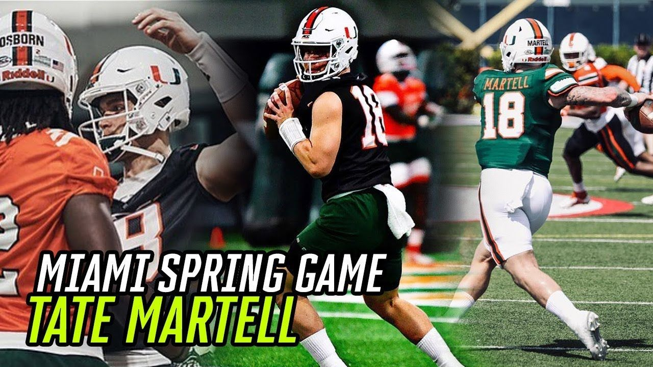 Tate Martell Throws 80 YARD TD In Miami SPRING GAME! QB Drops DIMES & Shows Off His SPEED ⚡️