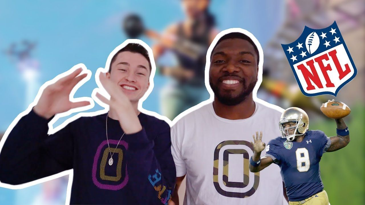 Playing Fortnite with an *NFL QB*! (can we get a WIN!?)