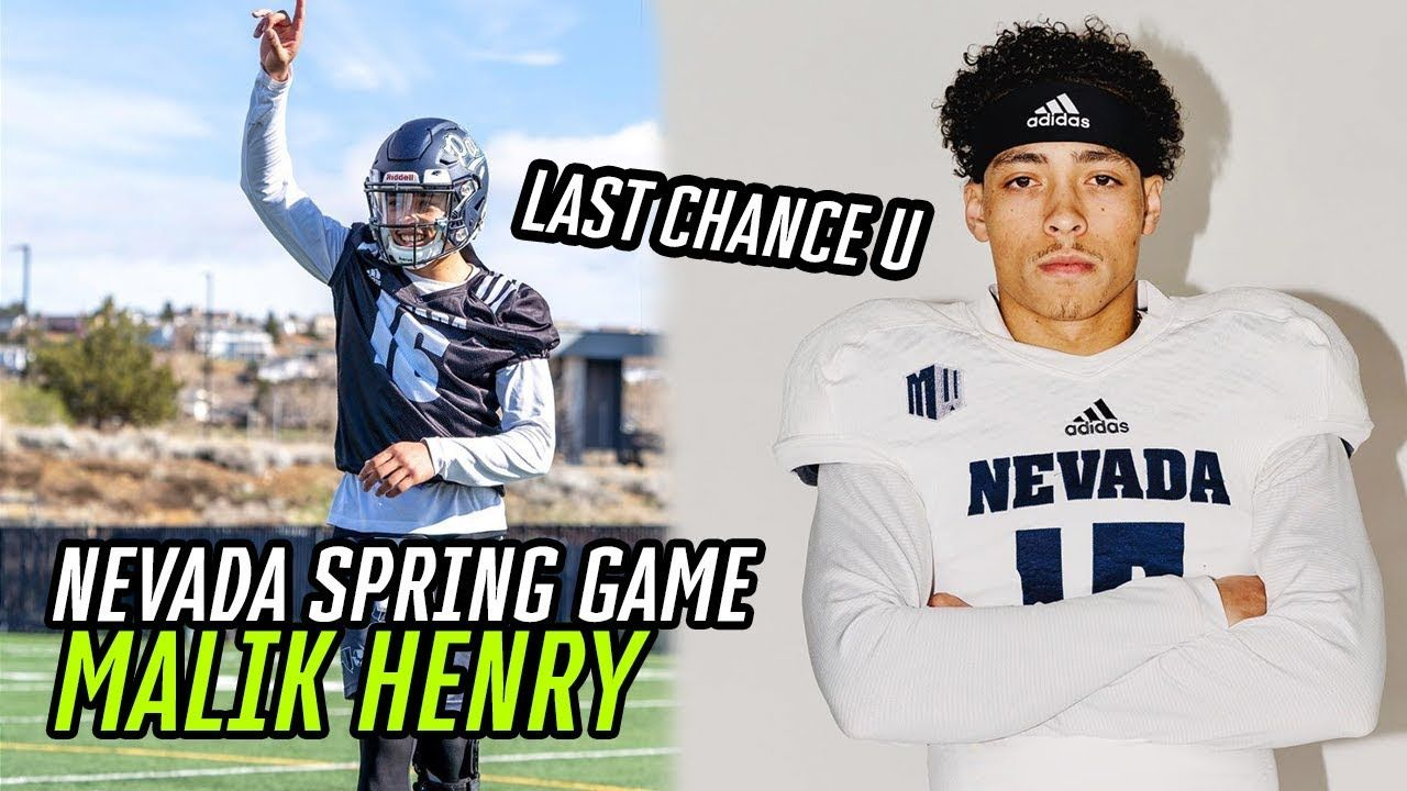 Last Chance U Star Malik Henry BALLS OUT In Nevada Spring Game! QB COOKS In College Debut 🔥