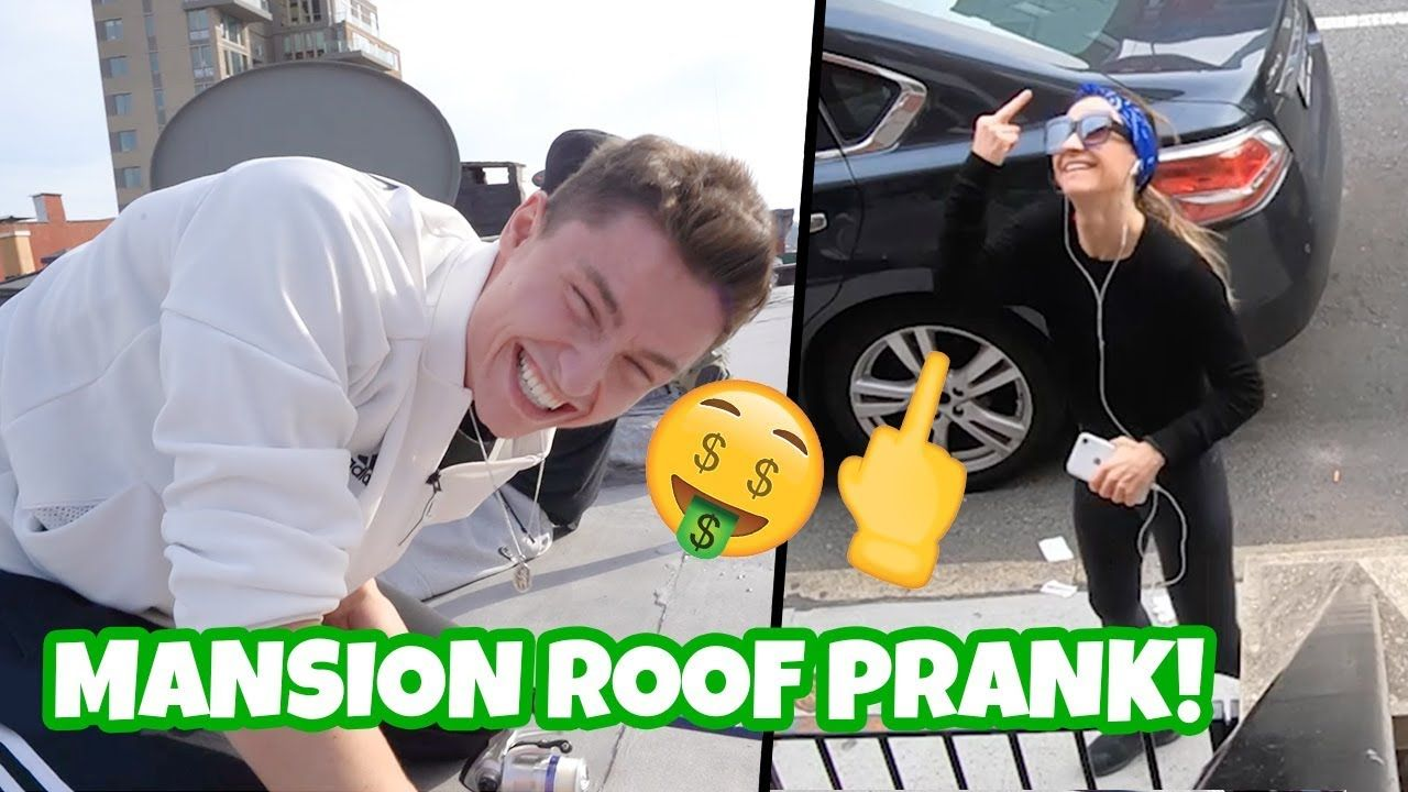 Roof Fishing $$ Prank 🤣