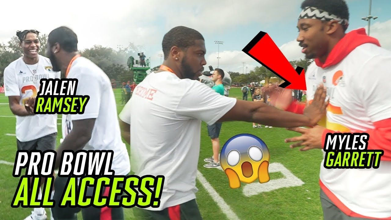 We Had ALL ACCESS At The PRO BOWL! Chilled With Myles Garrett, Jalen Ramsey & More NFL STARS 🏆