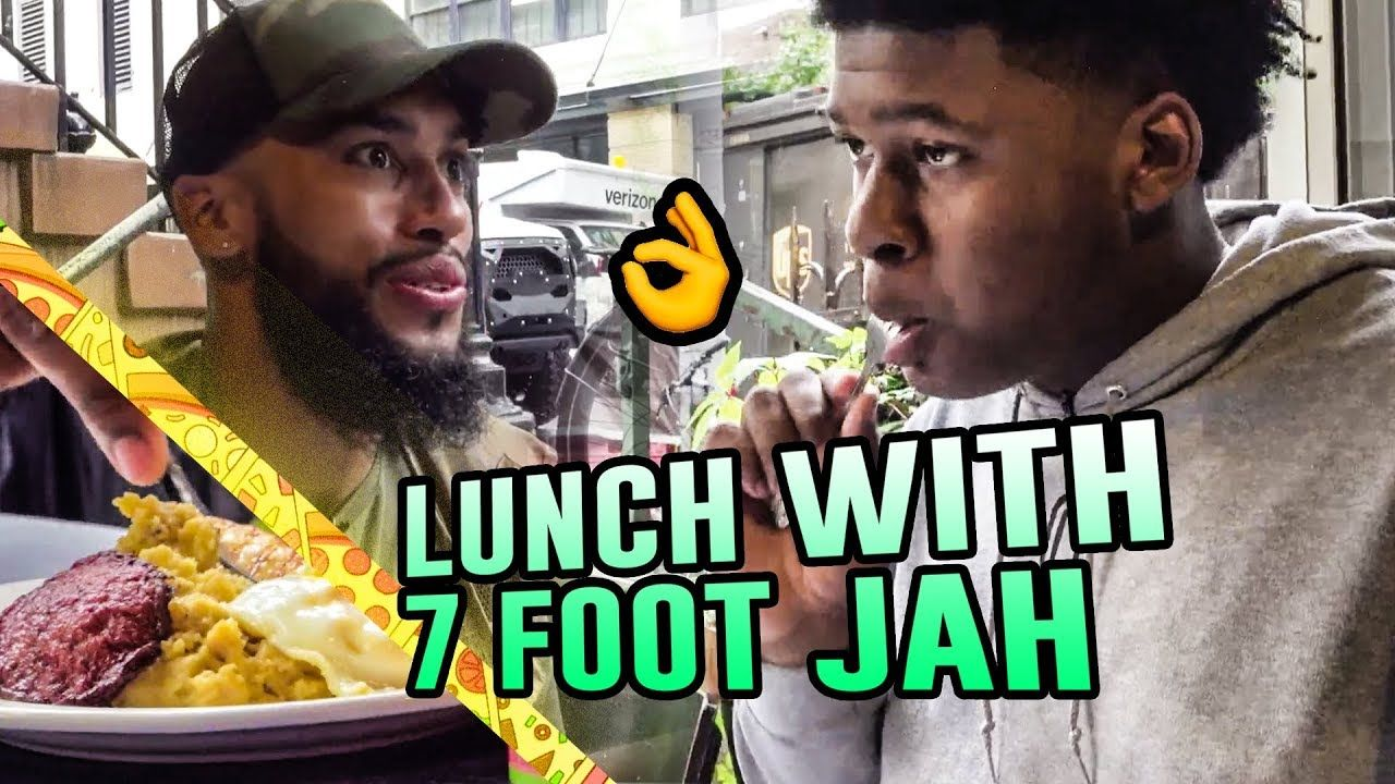 """""""I'm Going VEGAN For 21 Days!"""" 7'0"""" Jah Jackson Opens Up At Lunch With Larry! 😨"""