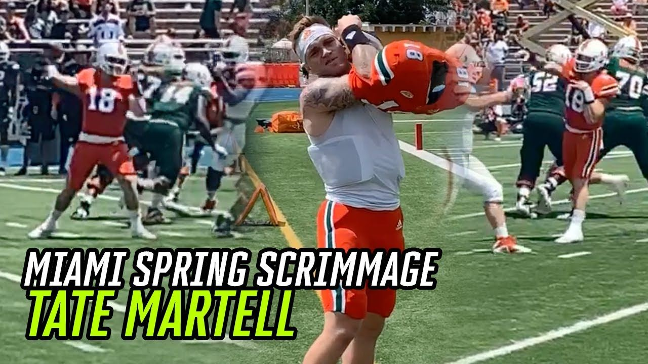 Tate Martell And Miami GO TO WORK In Epic Scrimmage! Future Of The U Looking BRIGHT 🙌
