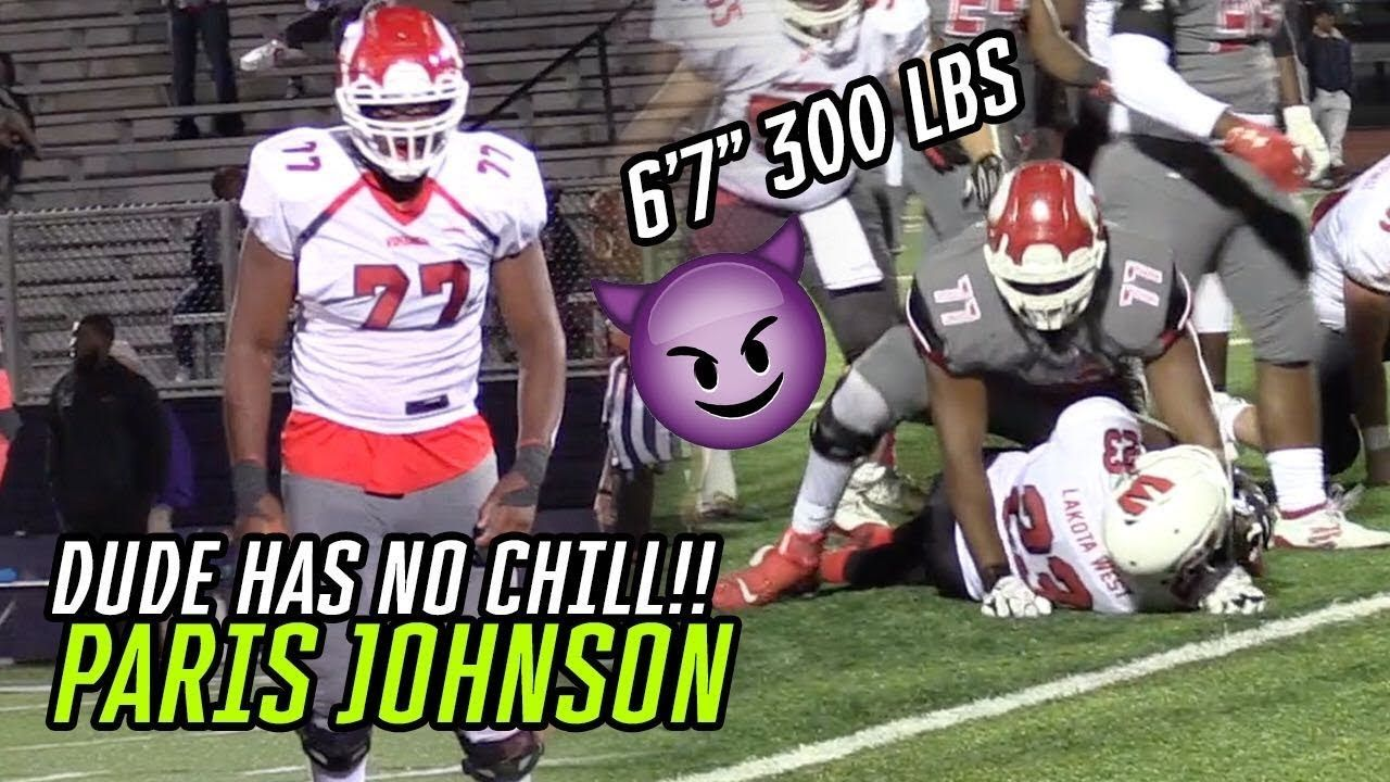 Ohio State Commit Paris Johnson Bullies Opponents & DANCES In Big Wins! Best Lineman In The NATION!?