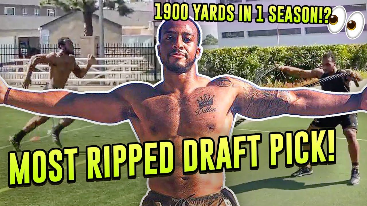 AJ Dillon Is A 250 Pound MONSTER! Boston College WRECKING BALL Flexes In Exclusive Draft Workouts!