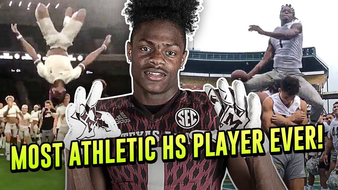 Demond Demas Is The Most Athletic Player In The COUNTRY! Texas A&M WR Shows Off Bag Of Crazy Flips!