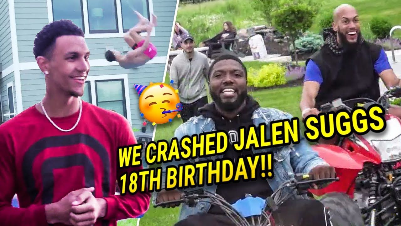 We CRASHED Jalen Suggs' 18th Birthday PARTY! Drove Decked Out ATVs & DUNKED On People 🤯