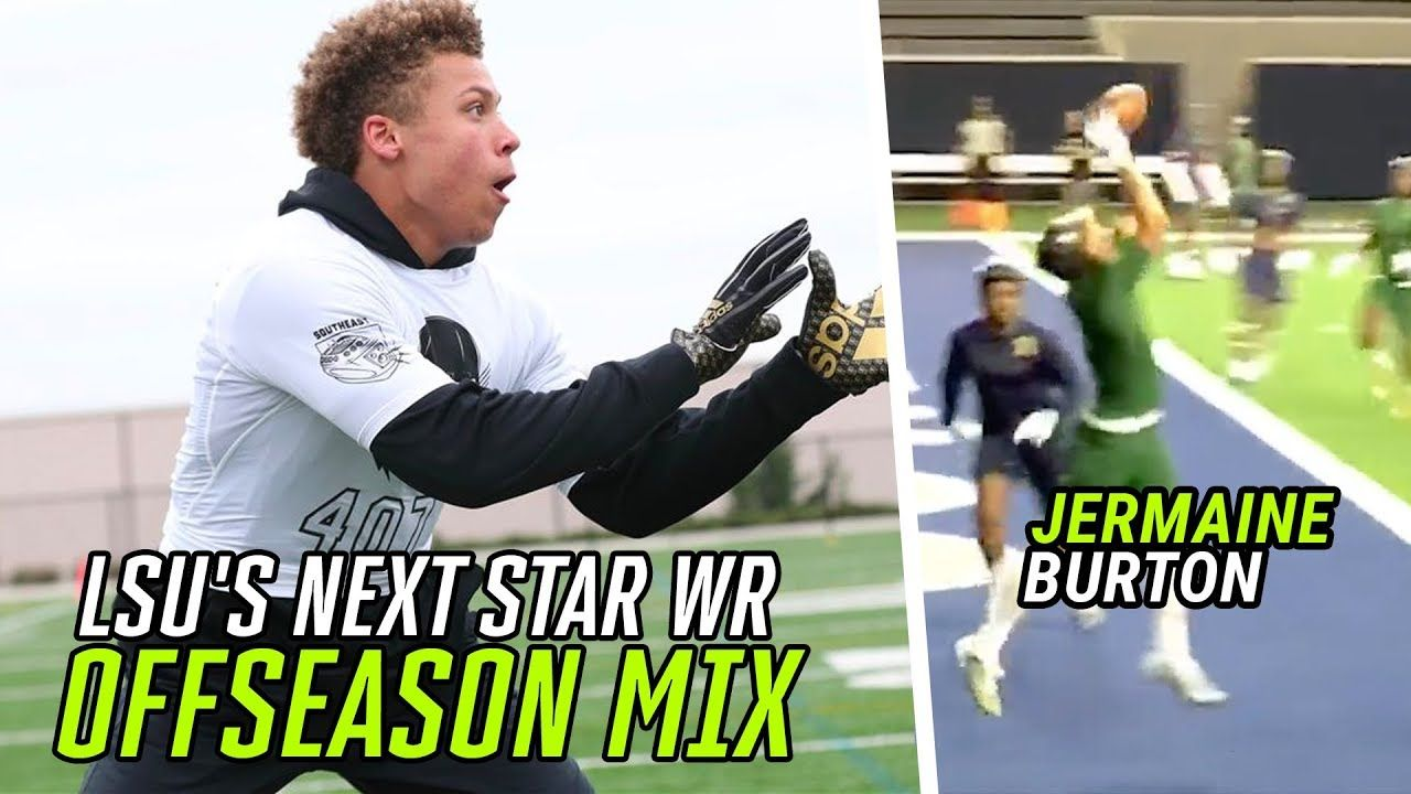 LSU's Next Star Wide Receiver Is A DB ASSASSIN! Jermaine Burton Jr KILLS Defenders ALL OFFSEASON 🔥