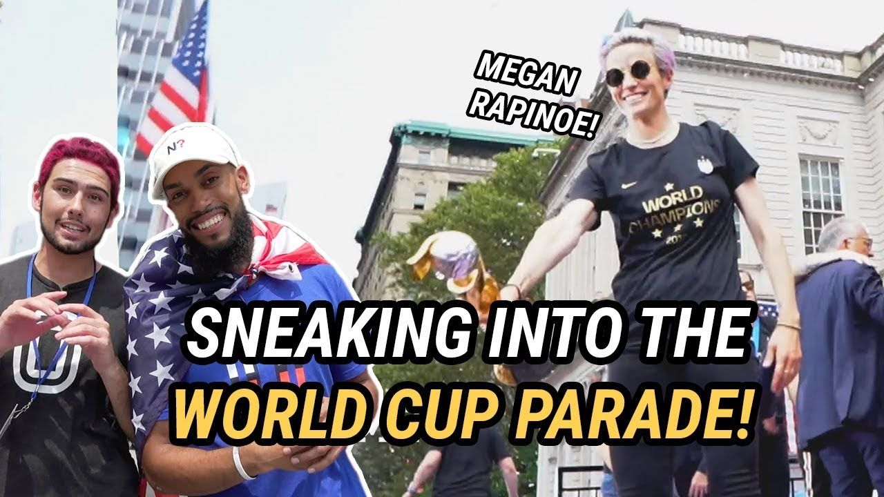 Megan Rapinoe Is OBSESSED With My Hair! 🤩Sneaking Into The US Women's Soccer WORLD CUP PARADE!