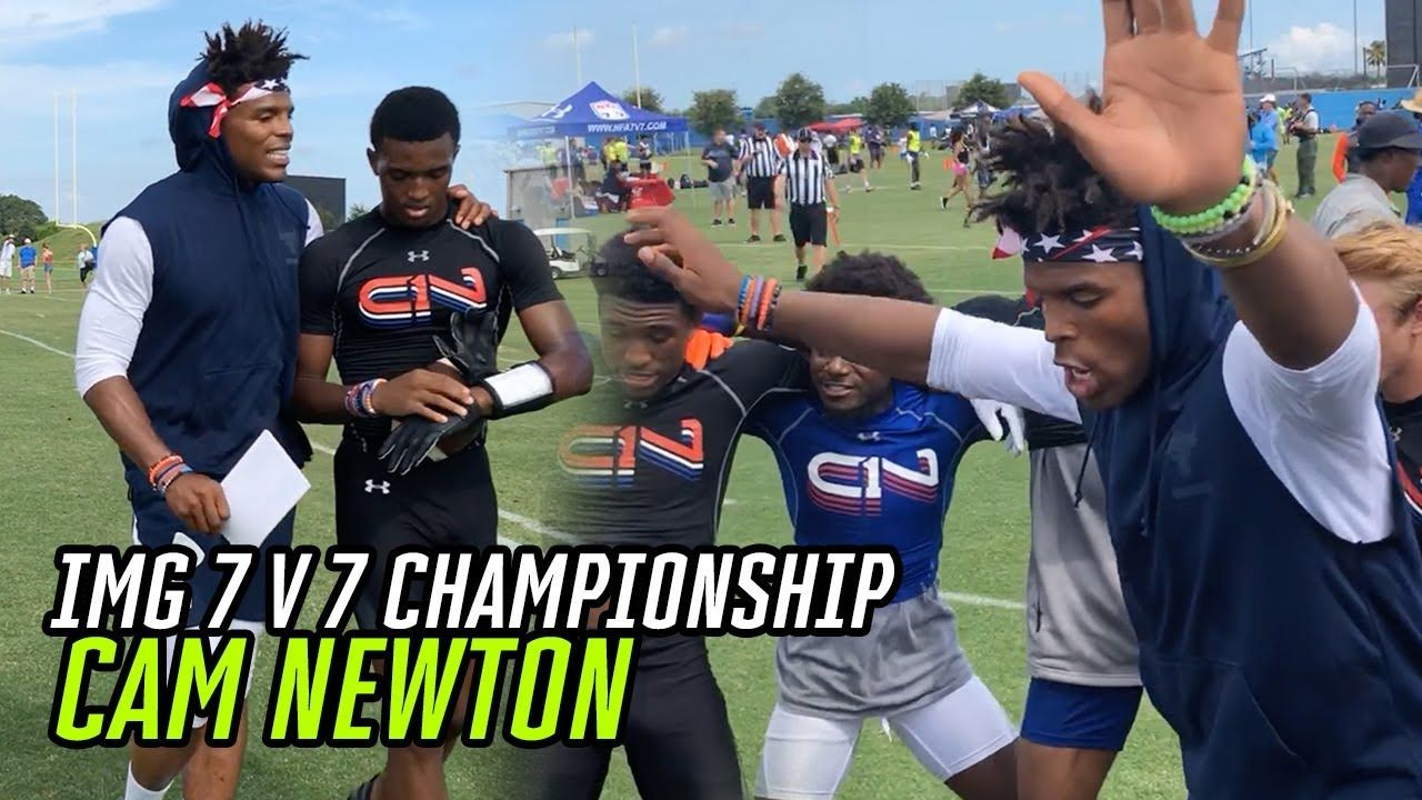 Cam Newton COACHES & TURNS UP At IMG Academy With The BEST In The NATION! 7v7 Finals Go CRAZY 🤩