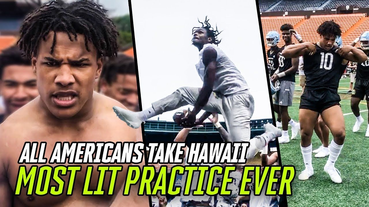 Demond Demas & Justin Flowe Go CRAZY At All American Practice In HAWAII! Tug Of War & DUNK CONTEST!?