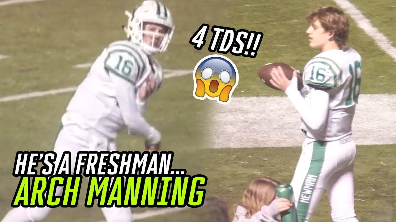 9th Grader Arch Manning Is Already A TOP COLLEGE PROSPECT! Eli & Peyton's Nephew TAKES OVER GAME!