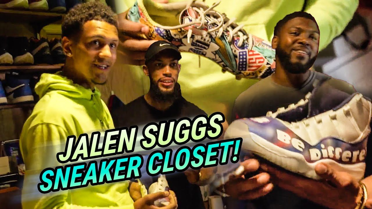 """The Cleats LEVEL Him Up!"" Jalen Suggs Shows Off INSANE KICKS On Sneaker Closet! This QB Got DRIP 💧"