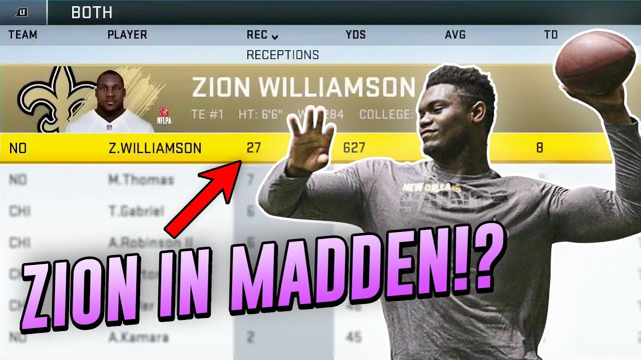 We Put Zion Williamson On The New Orleans Saints And This Is What HAPPENED...