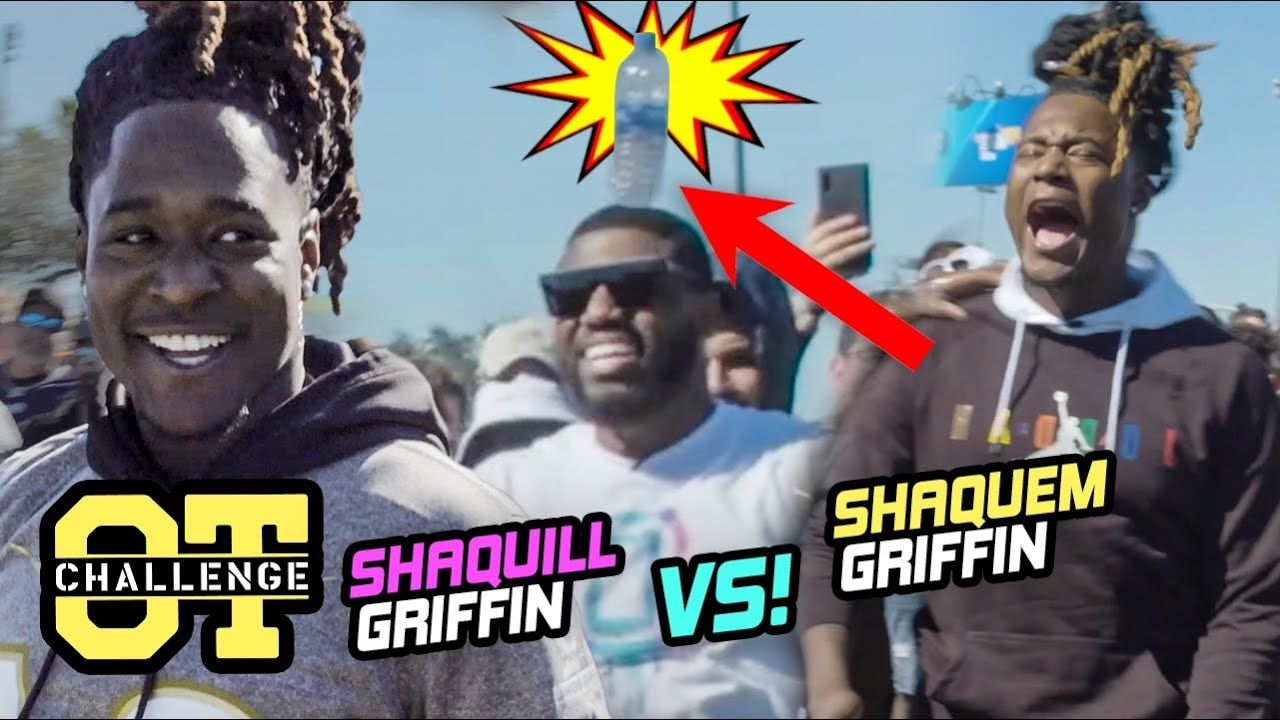 Seattle Seahawks' Shaquem Griffin TURNS UP In The Overtime Challenge! BATTLES Twin Bro Shaquill 🔥
