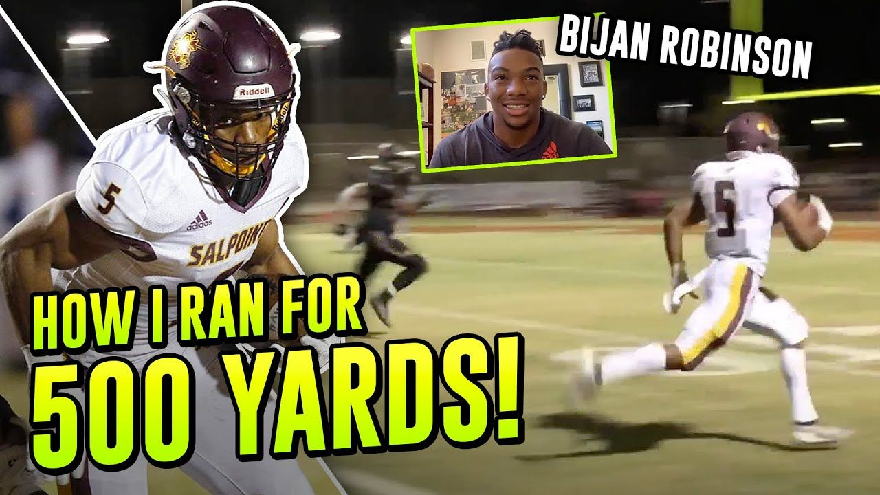 """I Was On A Mission To DESTROY That Defense!"" New Texas RB Bijan Robinson Relives his 500 YARD GAME"