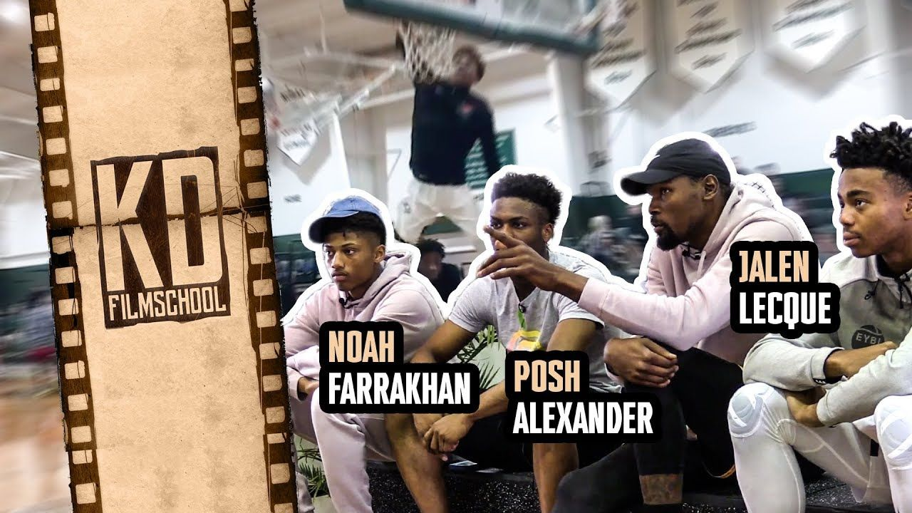 """They Say You're Like WESTBROOK!"" Kevin Durant Chops It Up With Jalen Lecque, Noah Farrakhan & Posh!"