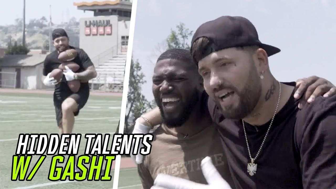 """Football Changed My Life."" Rapper Gashi Snags ONE HANDED Catches & Opens Up About His MUSIC 😱"