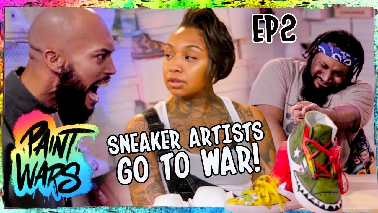 "Top Shoe Customizers TALK TRASH While BATTLING For $10K! Tempers FLARE On Set! ""Imma Talk My Sh*t!"""