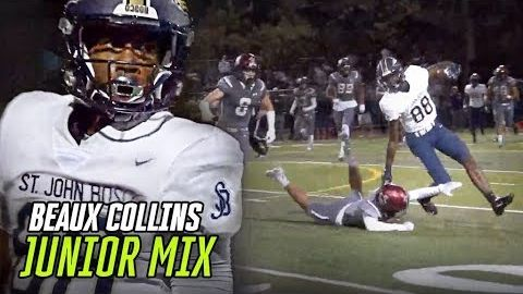 Clemson Commit Beaux Collins Is UNGUARDABLE! Junior Year Highlights From DJ Uiagalelei's #1 Target!