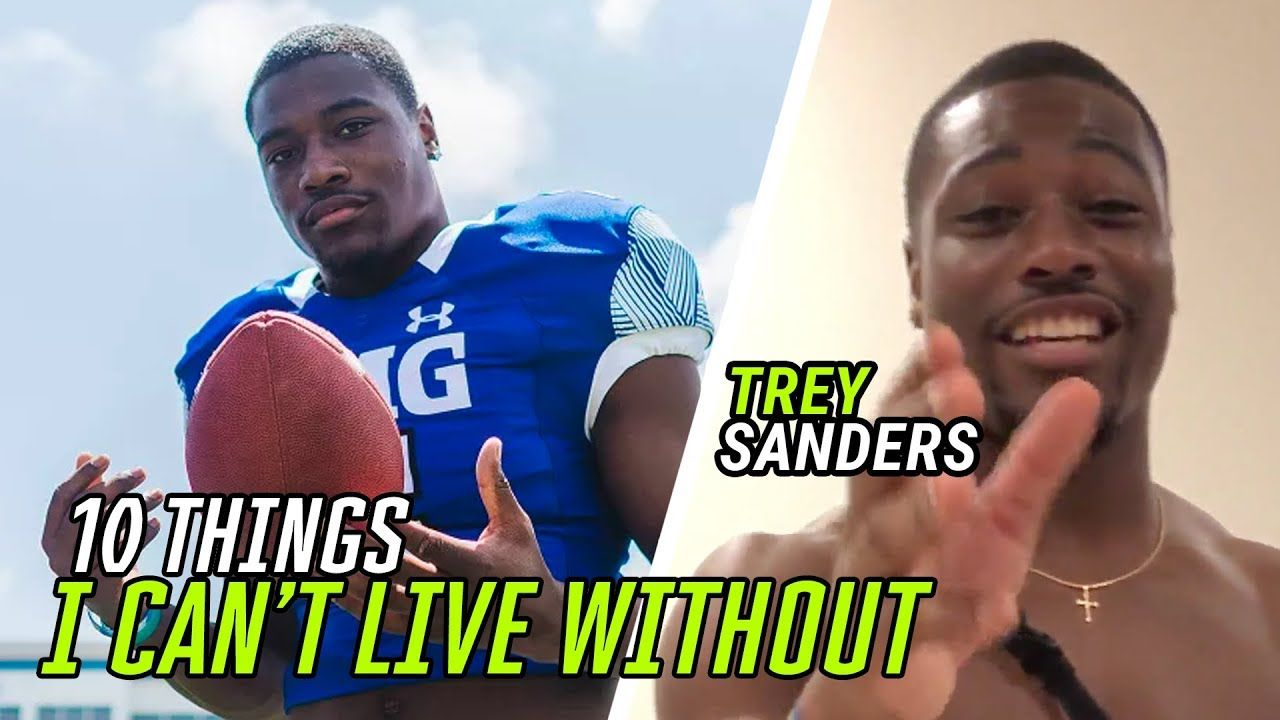 10 Things Alabama Running Back Trey Sanders CAN'T LIVE Without 😱