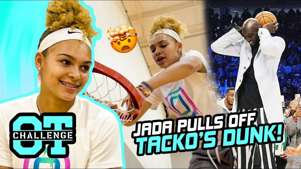 Jada Williams Does TACKO FALL's Dunk In Overtime Challenge! Lil Bullet Gets Dizzy & TRASH TALKS 😱