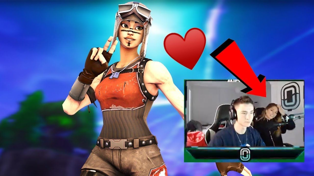 Tik Tok FAMOUS Girl *FLIRTS* with Random Duos Partner in Fortnite (part 2)