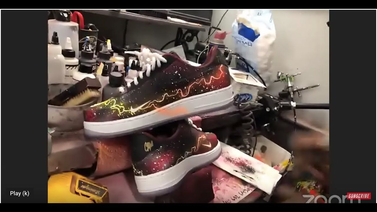 #1 Sneaker Artist Sierato Customizes AF1s LIVE! We Are Giving Them Away To One Of YOU