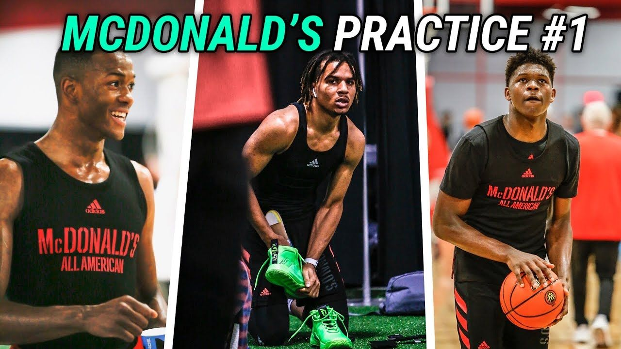Cole Anthony, Anthony Edwards & Nico Mannion Go AT IT In First McDonald's Practice! Full Highlights!