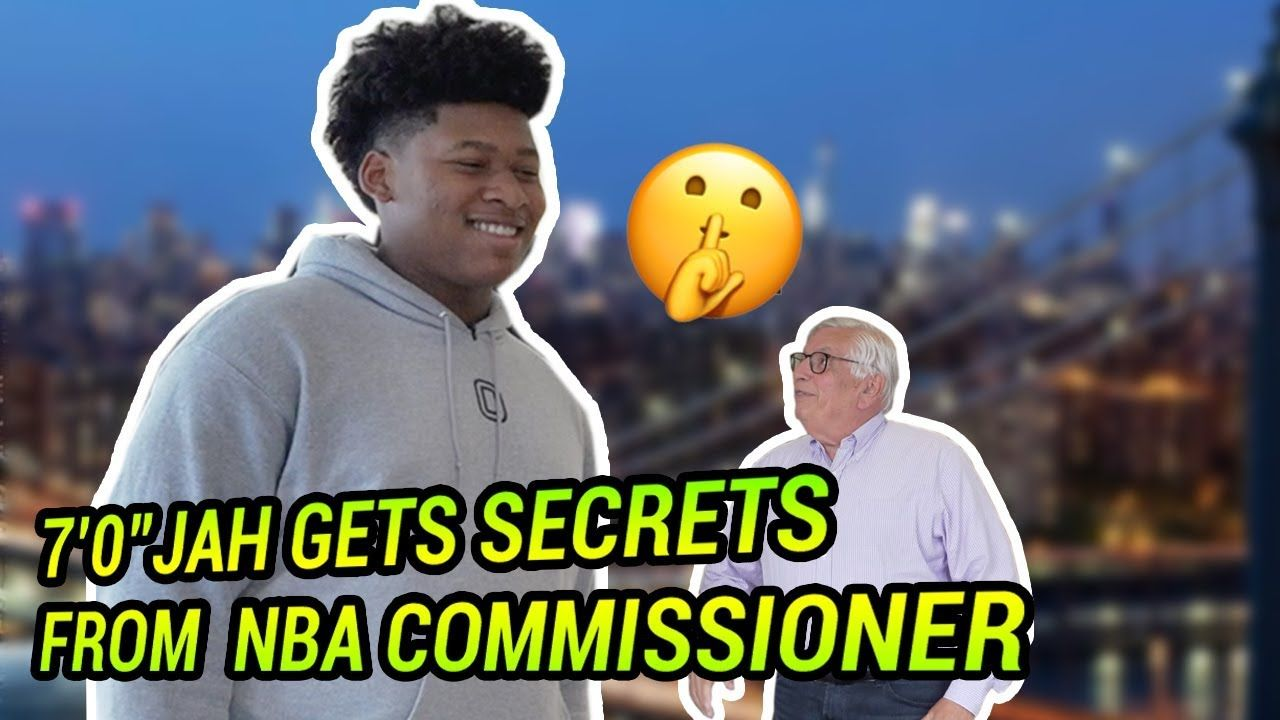 "7'0"" 8th Grader Jah Jackson Gets REAL With David Stern! Talks Blue Chips & Making The League 👀"