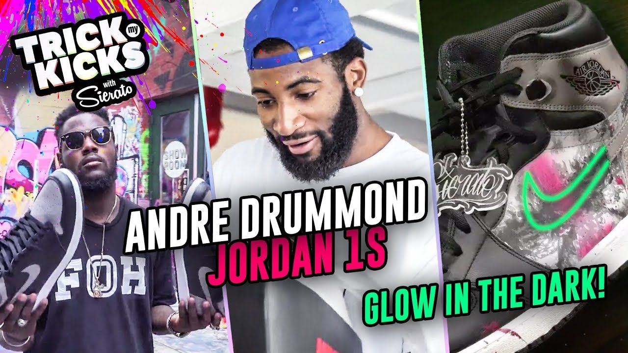 Custom Jordan 1s For NBA All Star Andre Drummond! #1 Sneaker Artist Sierato Has SKILLS