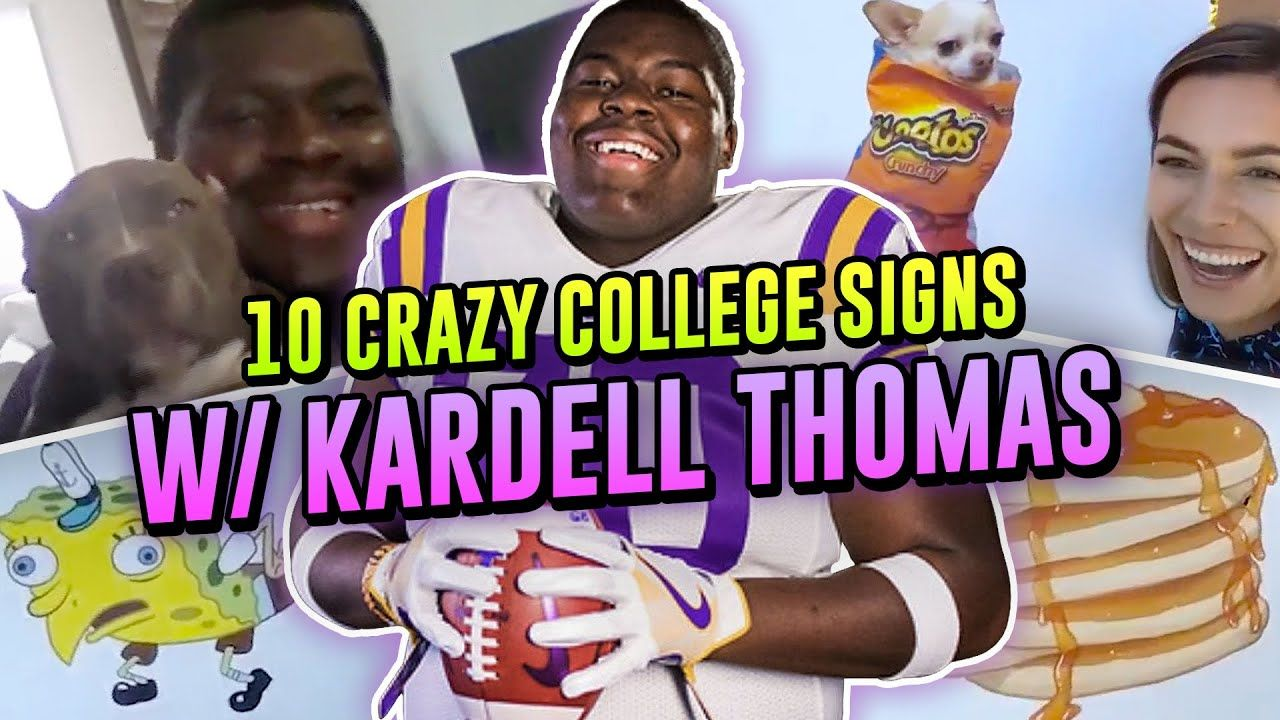 """They Need To Drop Off The Face OF The EARTH!"" 10 CRAZY College Signs With Kardell Thomas 😂"
