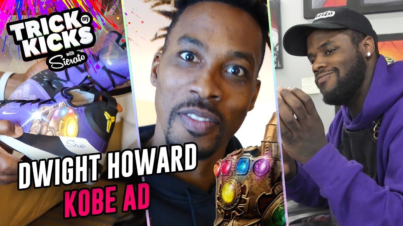 World's Best Sneaker Artist Makes KOBE Avengers Customs For DWIGHT HOWARD! Sierato Has INSANE SKILL!