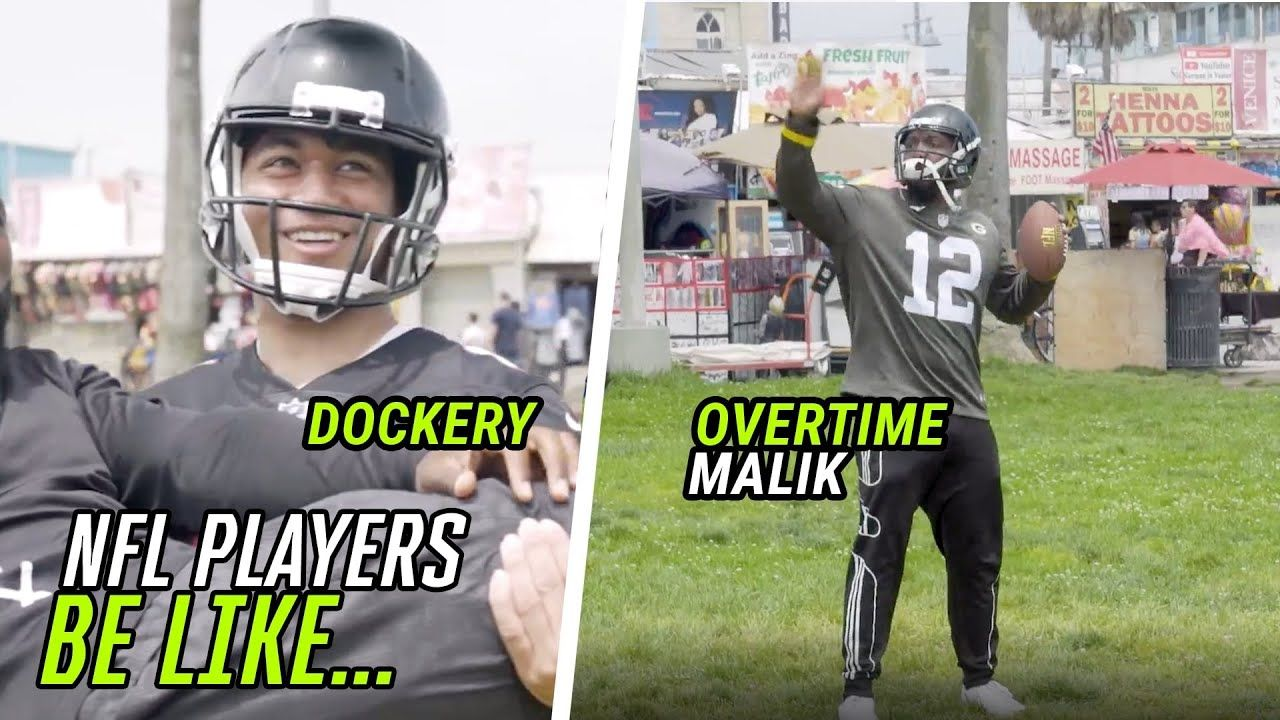 Impersonating Star NFL Players With DOCKERY! Aaron Rodgers, Tom Brady, Antonio Brown & MORE 😅