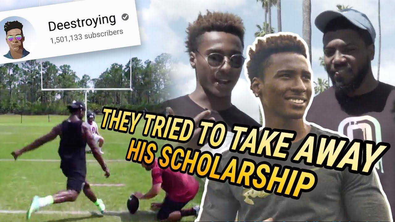 """I'm Living The Dream."" Pro Football Player DEESTROYING Opens Up On Losing His Scholarship & Future!"