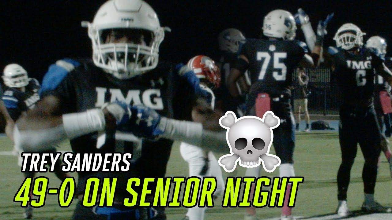Trey Sanders And Noah Cain DROP BODIES On Senior Night! IMG Blows Out Opponent 49-0 😱