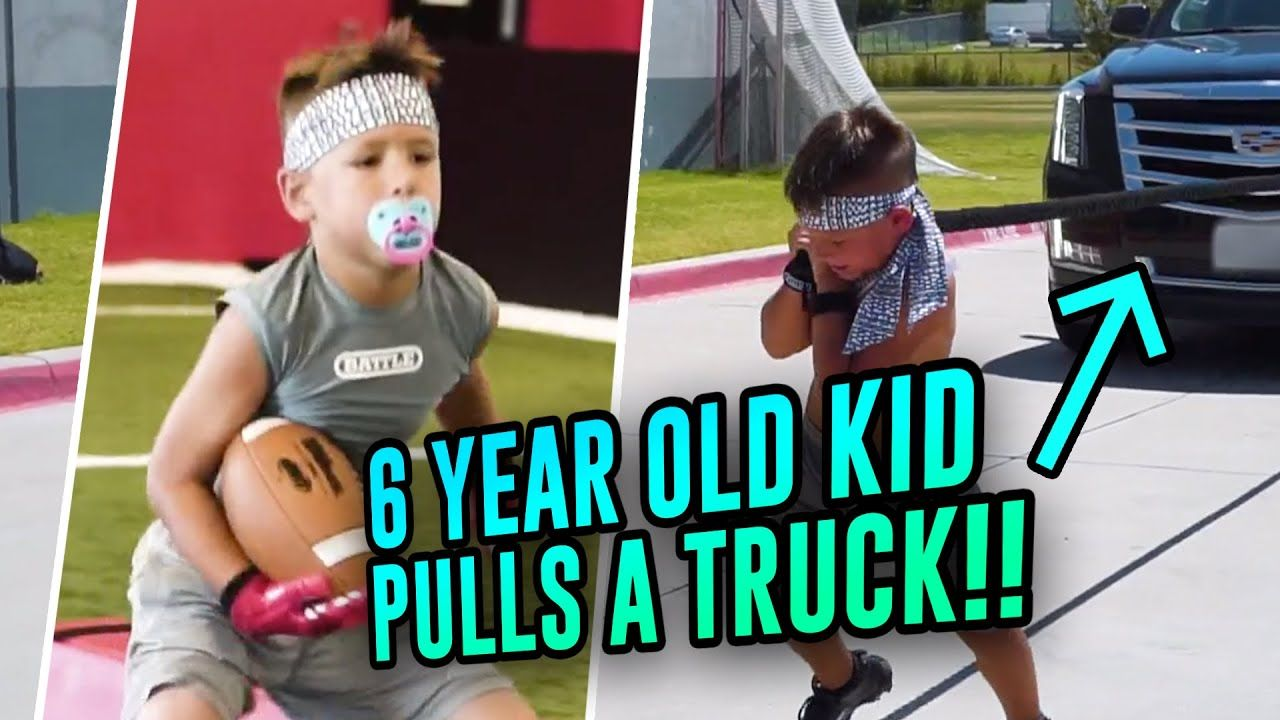 This 6 Year Old Phenom Pulled An ESCALADE!? Baby Gronk RAPS & Has A Pet Goat Named Tom Brady!? 😂