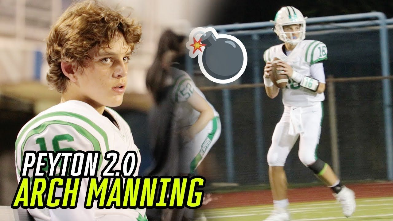 Arch Manning GOES OFF For 5 Touchdowns! Eli & Peyton Manning's Nephew Has Some SPEED!?