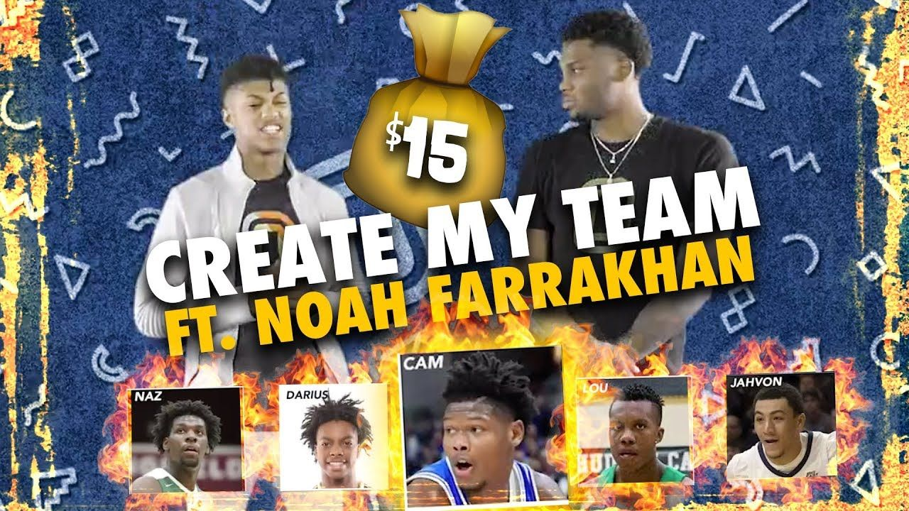 Cam Reddish over ZION WILLIAMSON!? Noah Farrakhan SURPRISES Us With His Perfect Team 😱