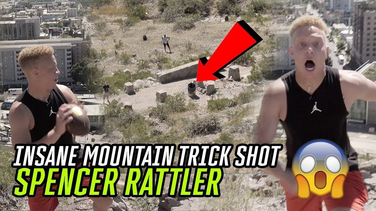 Oklahoma QB Spencer Rattler Hits UNREAL TRICK SHOT Off A MOUNTAIN! Best QB In The COUNTRY 🤩