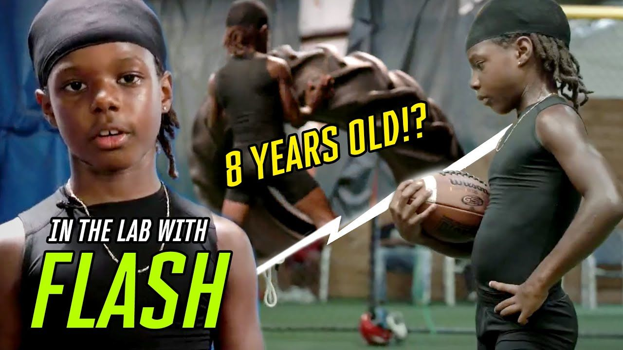 """He's 8 Years Old With An EIGHT PACK!"" Young Phenom Flash Goes Through INSANE Workout 🤯"