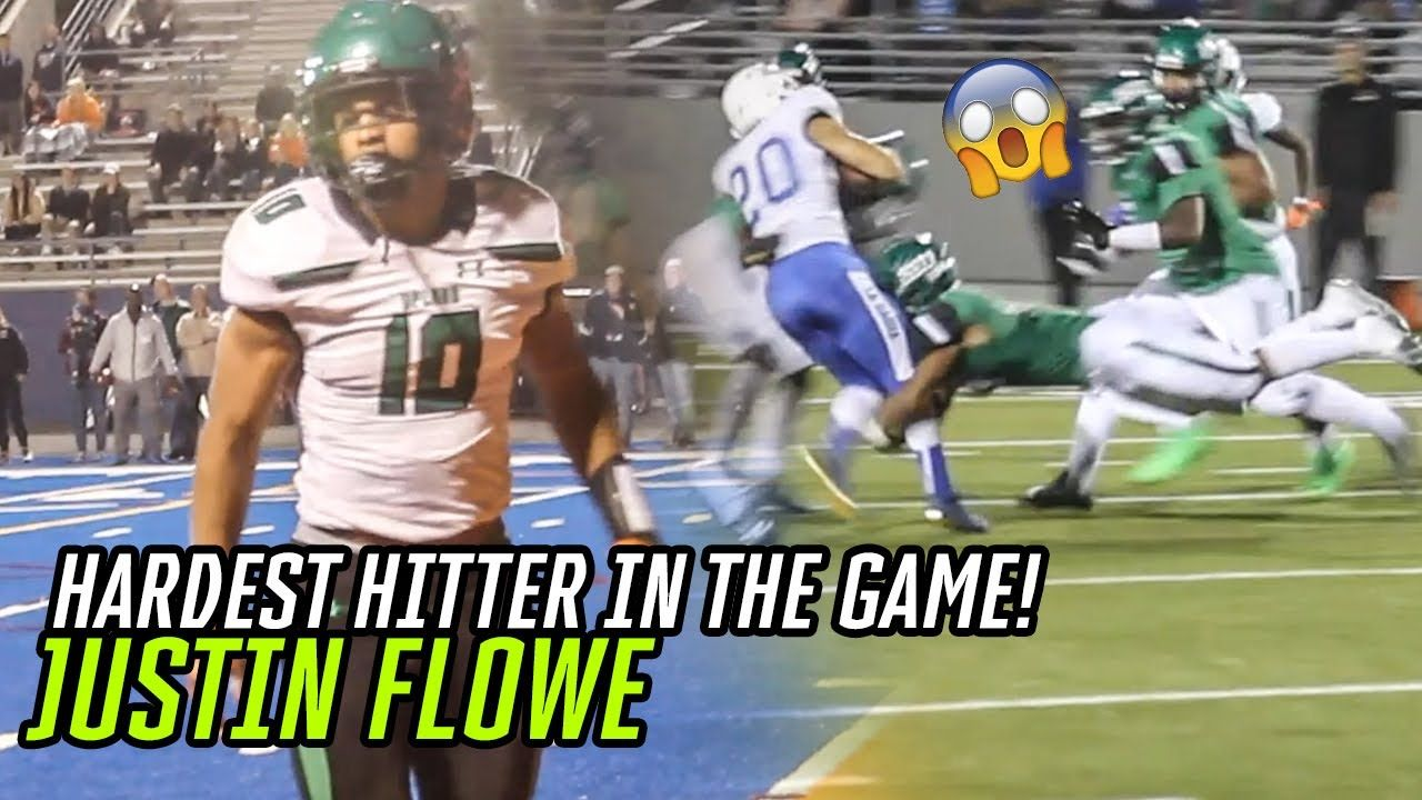 Top Ranked LB Justin Flowe Had A MONSTER Senior SZN! Is He The HARDEST HITTER In HS Football!?