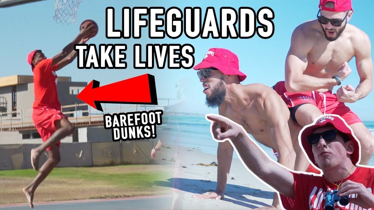 "Lifeguard NERDS Ball BAREFOOT On San Diego Beach! POSTERIZE ""Hoopers"" 😂"
